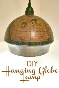 Globe Lamp Create a hanging light from an old globe or globe designed product! Create a hanging light from an old globe or globe designed product! Vintage Diy, Etsy Vintage, Vintage Gothic, Globe Lamps, Globe Lights, Diy Hanging, Hanging Lights, Old Globe, Torchiere Lamp