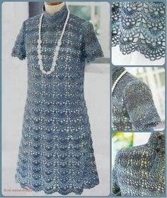 Мир хобби: Ажурное платье (вязание крючком)