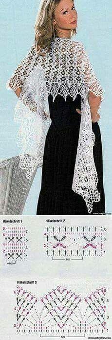 Shawl pattern and edge design idea for mom