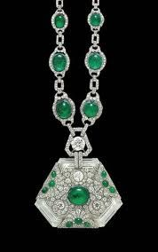 Emerald Necklace of Maharani Prem Kaur of Patyala formerly known as  Anita Delgado