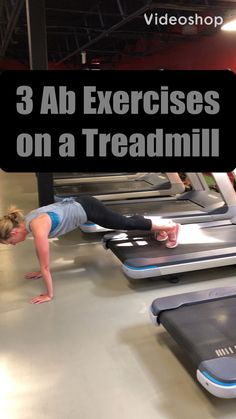 Watch to see 3 Exercises you can do to work your abs on the treadmill! Six Pack Abs Workout, Insanity Workout, Best Cardio Workout, Dumbbell Workout, Workout Challenge, Workout Videos, Workout Diet, Workout Fitness, Treadmill Workouts