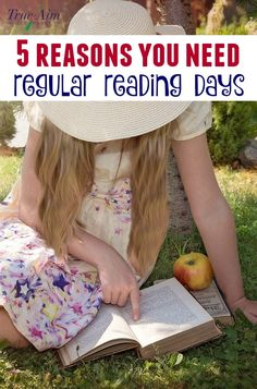 Reading days are great for quiet time and a time to relax. Here are the top five reasons you need regular reading days in your homeschool!