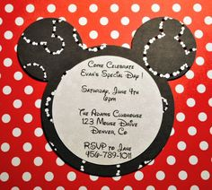 Mickey Mouse Birthday Party Invitation