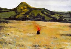 La Nube Roja by David de la Heras Art Print by tNY.Creative - X-Small Art And Illustration, Horror, Tumblr, All Art, Art Forms, Framed Art Prints, Painting & Drawing, Landscape Paintings, Landscapes