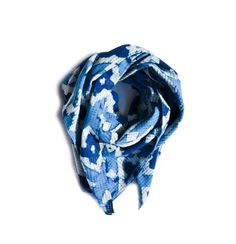 Scarf   Block Print Indigo Summer Scarf  Blue Diamond  by Ichcha, $20.00