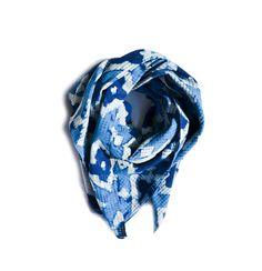 Diamond - Blue Indigo, Block Printed, Cotton Scarf - Large on Etsy, $45.00