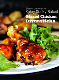 Favorite chicken especially as a Superbowl party food. this is Spicy from Sriracha  Sticky and Baked Glazed Chicken Drumsticks that could be done with chicken wings.