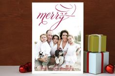 #37. Merry Script by Kristie Kern from Akron, OH. Announcing @Minted #Holiday2012 design challenge winners.