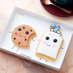 Cute Kawaii  cookies (We Go Together) gift box
