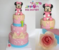 mini mouse cake by cakes-mania עוגת מיני מאוס  מאת שיגעון העוגות - www.cakes-mania.com