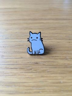 Flimsy Kitten hard enamel pin More