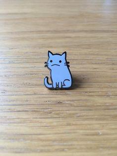 Flimsy Kitten hard enamel pin