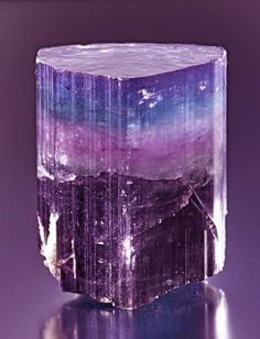 Tourmaline.  There are lots of pics of the red and green, but you don't see much of this.  So beautiful.