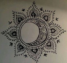 Sun and moon, forever in love mandala tattoo