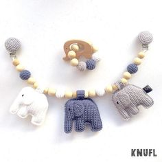 Crocheting a trolley tensioner - part Een wagenspanner haken – deel 1 Crocheting a trolley tensioner – part 1 - Crochet For Kids, Diy Crochet, Crochet Dolls, Baby Shower Gifts, Baby Gifts, Crochet Mobile, Crochet Elephant, Baby Rattle, Handmade Baby
