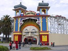 Luna Park by day - in St. Kilda, Melbourne