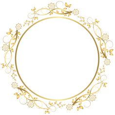 Gold Round Floral Border Transparent PNG Clip Art Image​ | Gallery Yopriceville - High-Quality Images and Transparent PNG Free Clipart