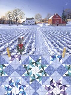 Rebecca Barker's Quiltscapes - She sells cards, prints and originals-Christmas Cards