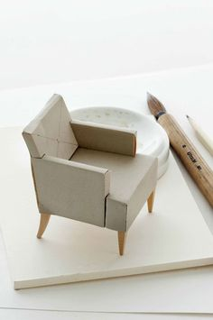 "a chair ""mock-up"" that designers use. how adorable is that?"