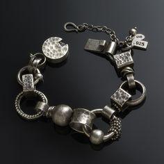 Bracelet | Sarah Michaela. Oxidized sterling silver.