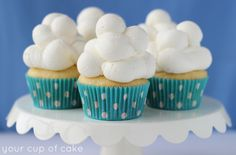 Cloud Cupcakes - Your Cup of Cake
