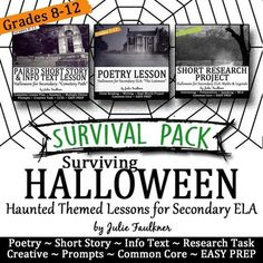 in this halloween lesson students write adjective rich advertisements for haunted houses for sale halloween lessonsactivities pinterest houses - Halloween Short Stories Middle School