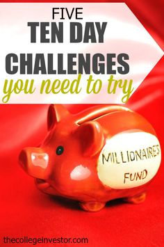 5 Ten Day Money Challenges You Need to Try - Finance tips, saving money, budgeting planner Ways To Save Money, Money Tips, Money Saving Tips, Dave Ramsey, Budgeting Finances, Budgeting Tips, Money Challenge, Challenge Accepted, Financial Tips