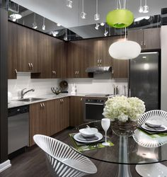 The kitchen vignette at the Atria presentation centre in North York, Toronto.
