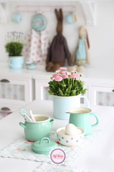 Easter, Syl loves, mint, minty, Maileg