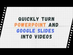Last week I published a short post about a neat new service called Video Puppet . Video Puppet will take your PowerPoint slides and conver. School Closures, Project Based Learning, Classroom Design, Google Classroom, Learning Resources, Educational Technology, College Teaching, Teaching Tips, Google Docs