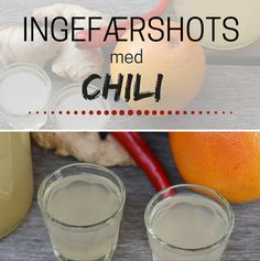 Det er vildt nemt at lave de her ingefærshots med grape og et lille spark fra chili og ingefær.