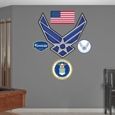 Air force symbols on pinterest air force us air force for Decor 6 air force