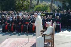 Benedict XVI joins Pope Francis in consecrating Vatican to St Michael Archangel