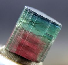 76 cts Terminated Blue Cap Watermelon Tourmaline Crystal from Paprok Afghanistan