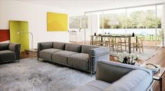 Living Room Painting Grey Sofa Carpet Stand Light Dining Table Glass Window Some Inspirations for Open Living Room Ideas