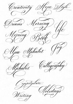 words in cursive calligraphy & words in cursive & words in cursive tattoos & words in cursive calligraphy & words in cursive writing Tattoo Fonts Alphabet, Calligraphy Fonts Alphabet, Flourish Calligraphy, Cursive Tattoos, Cursive Alphabet, Tattoo Lettering Fonts, Copperplate Calligraphy, Hand Lettering Alphabet, Lettering Styles