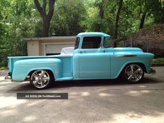 A Totally Custom 1957 Chevy Big Window Pickup Photos and info - TenWheel 55 Chevy Truck, Classic Chevy Trucks, Chevrolet Trucks, Gmc Trucks, Lifted Trucks, Cool Trucks, Pickup Trucks, 1957 Chevrolet, Chevy Stepside