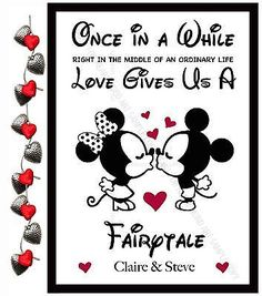Personalised #valentines day gifts disney for him her #anniversary #present ❤�, View more on the LINK: http://www.zeppy.io/product/gb/2/182416424048/