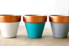Copper-Dipped Planter DIY | Jillianastasia
