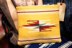 Totem Salvaged Yellow Navajo Pouch