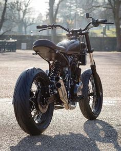 """dropmoto: """"From Paris with love. Yamaha sitting high and tight sunny E… dropmoto: """"From Paris with love. Yamaha sitting high and tight sunny Easter morning. Beautiful work from . Tracker Motorcycle, Scrambler Motorcycle, Moto Bike, Motorcycle Design, Bike Design, Cafe Racer Build, Cafe Racer Bikes, Custom Motorcycles, Custom Bikes"""