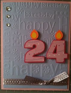 Cricut Card Ideas: 24 - Like the idea of adding the numbers!