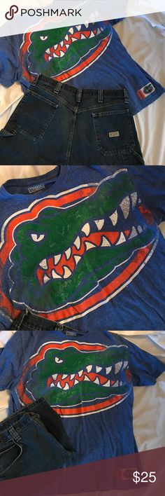 🐊🐊Florida Gator Tshirt.  Wrangler Shorts🐊🐊 💚💙Florida Gators💚💙 Shirts Tees - Short Sleeve