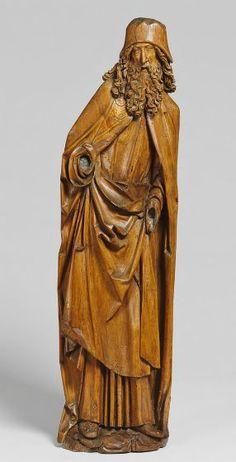 Tilman Riemenschneider and Workshop, Saint Anthony Abbot, c. 1510, Harvard Art Museums/Busch-Reisinger Museum.