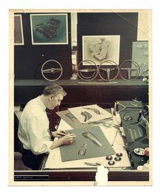 OG   Automotive designer John Gump in Ford Studio