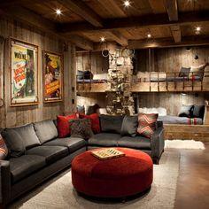 711490c01ed basement redo - bunk beds Rustic Basement