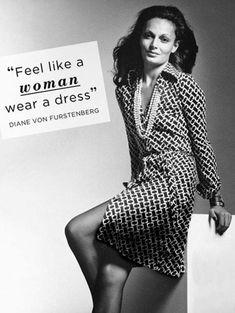 "DVF Wrap dress (the original ad!): ""Feel like a woman, wear a dress"" 70s Fashion, Fashion History, Vintage Fashion, Fashion Spring, Vintage Style, Thing 1, Diane Von Furstenberg Dress, Victoria Secret Fashion Show, Glam Rock"