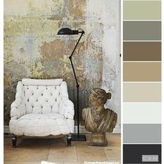 Colour Pallette, Colour Schemes, Color Patterns, Steampunk Cafe, Steampunk Design, Color Harmony, Color Balance, Pantone, Wall Colors