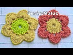 CROCHET TUTORIAL : Flor Tejida Fácil paso a paso | Aplicación a Crochet - YouTube Crotchet, Crochet Flowers, Flower Patterns, Macrame, Free Pattern, Crochet Earrings, Projects To Try, Make It Yourself, Crafty