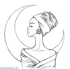 Colouring Pages, Adult Coloring Pages, Coloring Books, African Paintings, African Art, Unique Tattoos With Meaning, Daughters Name Tattoo, Pencil Drawings, Art Drawings
